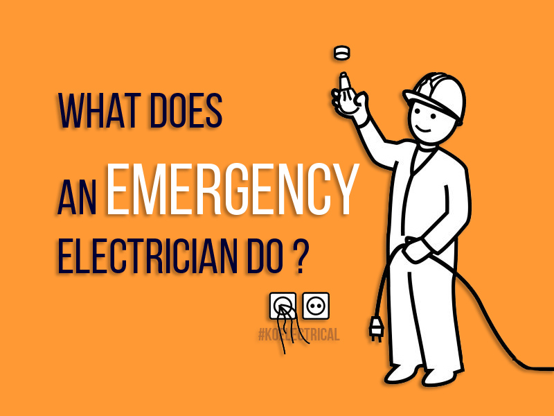 emergency electricians what do they do